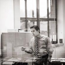 portrait of business man in office