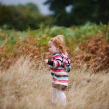 Portrait photograph of young girl in the autumnal light